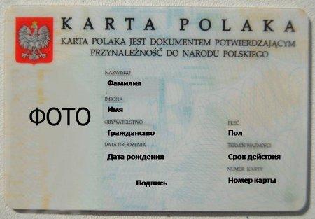 Какие документы нужны для получения карты поляка.