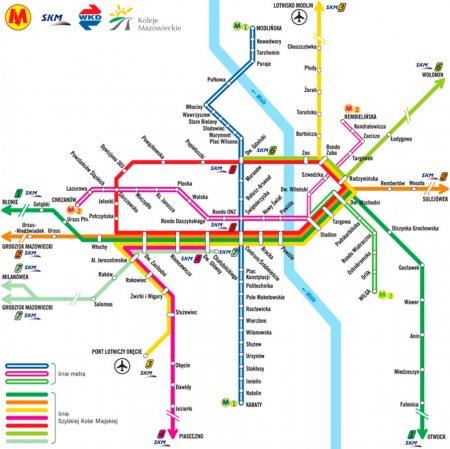 Varshavskoe Metro Shema Karta I Ceny Metro V Varshave Polsha I